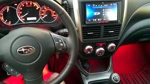 subaru wrx custom interior 2012 impreza sport foot well lights wiring to turn on with doors