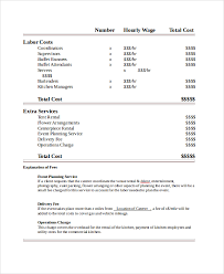 sample quotation doc sample catering quote 6 documents in pdf word
