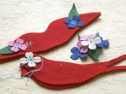 felt bird ornaments hgtv