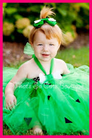 Pebbles Halloween Costume Toddler Pebbles Costume Cave Tutu Dress Costume Halloween Green Tutu