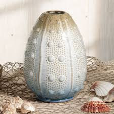 Cool Vase Coastal Sea Urchin Ceramic Table Vase