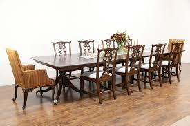 georgian design 1860 antique mahogany dining table 7 leaves georgian design 1860 antique mahogany dining table 7 leaves extends 13 9