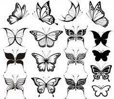 butterfly design rif 00035 tattoojohnny com color