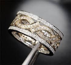 unique wedding rings for women unique eternity band 1 05ct diamond 14k two tone gold women men
