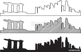 free hand sketch of new york city skyline vector illustration eps