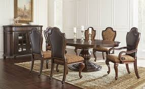 von furniture angelina formal dining room set with round to oval