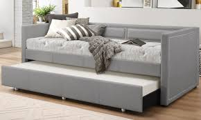 Day Bed Sofa by Fabric Nailhead Trim Sofa Daybed Groupon Goods