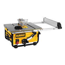 dewalt 10 portable table saw dewalt dwe7480 10 in 15 amp compact job site table saw with 24 in