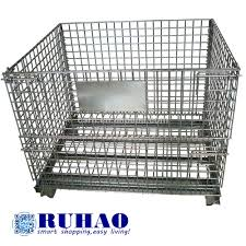 mesh box wire cage metal bin storage container buy mesh box wire