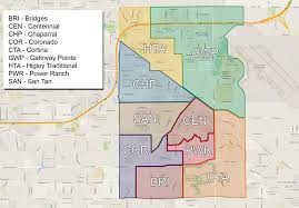 Chandler Arizona Map by Enrollment Boundaries