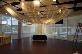 behind the scenes of ceiling drape event decor and more