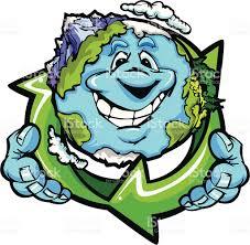 imagenes animadas sobre el reciclaje feliz planeta tierra de sujeción de dibujos animados de vector