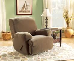 sure fit stretch pinstripe t cushion recliner slipcover u0026 reviews