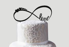 infinity cake topper infinity cake topper wedding cake topper personalized cake