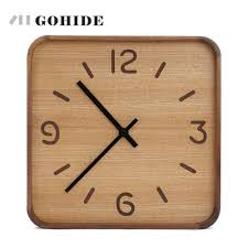 Wooden Wall Clock by Juh A Wooden Wall Clock Creative Modern Wall Clock Retro Pocket
