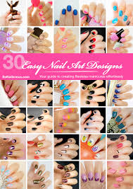 Nail Art Designs To Do At Home 30 Easy Nail Art Designs U0026 Nail Tutorials E Book By Sonailicious