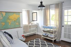 nursery with barn pendant lighting for a rustic touch of texas