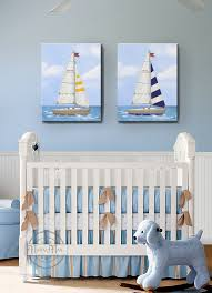 Nautical Nursery Decor Sailboat Nursery Baby Nursery Room Decor Nautical