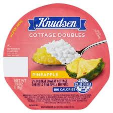 Calories In Lowfat Cottage Cheese by Knudsen Cottage Doubles Pineapple Cottage Cheese 3 9 Oz Walmart Com