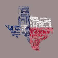 Texas State Flag Texas State Flag Word Cloud Digital Art By Brian Reaves