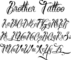 collection of 25 tattoo fonts