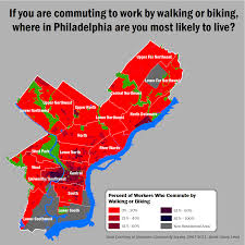 Map Of Philly Maps Philadelphia Commuting Patters Revealed In Pretty Fashion