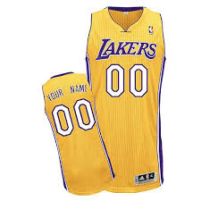 custom los angeles lakers jerseys customized yellow youth adidas