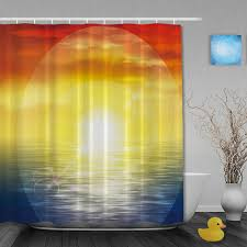 Custom Bathroom Shower Curtains Sunset Rainbow Bathroom Shower Curtains Seaside Shower Curtain