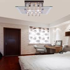 Flush Mount Chandeliers Comtemporary Crystal Drop Flush Mount Lights With 5 Lights In