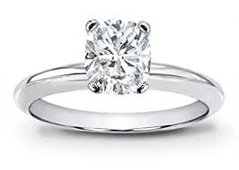 cushion solitaire engagement rings 1 carat certified solitaire platinum cushion cut