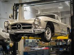 mercedes of irvine 1955 300 sl gullwing in for a center service