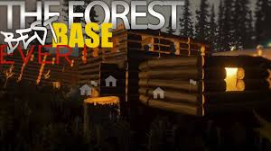 the forest best base house ever v0 5 youtube