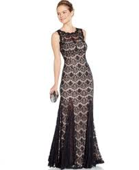betsy and adam betsy adam open back lace gown dresses women macy s