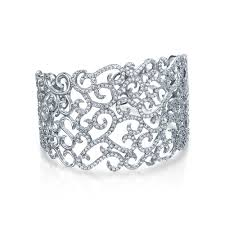 cuff bracelet jewelry images Silvertone cz pave swirl bridal cuff bracelet gatsby inspired jpg