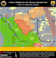Arizona Blm Map by Designated Critical Habitat For The Mexican Spotted Owl