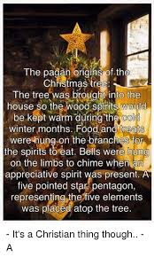 the pagan origins of the tree the tree was brought into