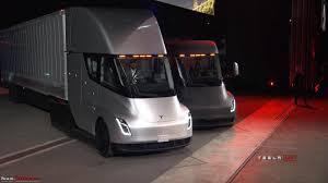 electric semi truck the tesla electric semi truck team bhp