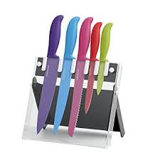farberware kitchen knives amazon com farberware 6 non stick resin knife set with