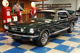 1966 Ford Mustang Black 1966 Ford Mustang Gt Coupe U2013 Ivy Green Black U2013 A U0026e Classic Cars