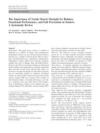 the importance of trunk muscle strength for balance functional