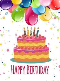 colorful birthday balloon cake card birthday greeting cards