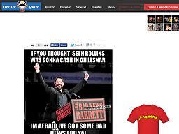 Bad News Barrett Meme - www memegene net meme gene okerlund wwe wrestling meme generator