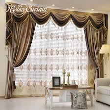 cenefas de tela para cortinas helen cortina set dise祓o europeo de lujo empalme cenefa cortinas