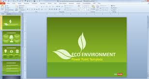 sustainability presentation template free green sustainability