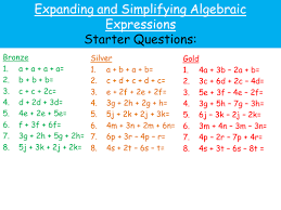 bunch ideas of algebra expand and simplify worksheets with