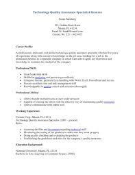 Internship Resume Samples For Computer Science by Resume For Quality Control Resume Sample 2015 Resume Format 2015