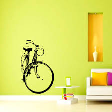 Wall Murals Amazon by Wall Decals Bicycle Vinyl Sticker Wall Decor Murals Boy Bedroom