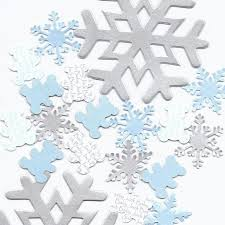 snowflake theme decorations winter baby shower snow
