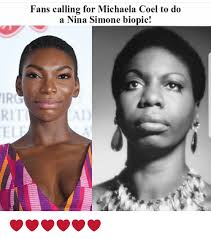 Michaela Meme - fans calling for michaela coel to do a nina simone biopic ir rit