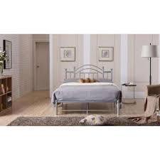Silver Queen Bed Platform Beds U0026 Headboards Bedroom Furniture The Home Depot